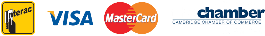 We Accept Interac, Visa & Mastercard