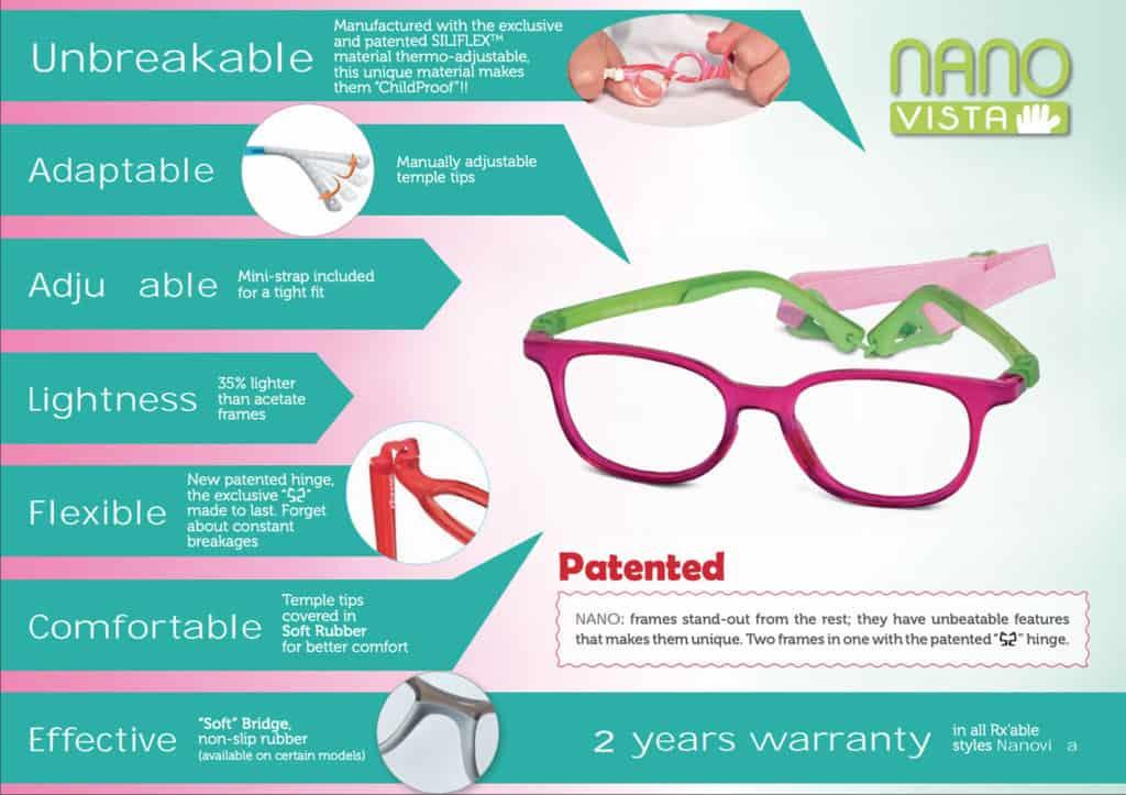 NanoVista kids prescription glasses