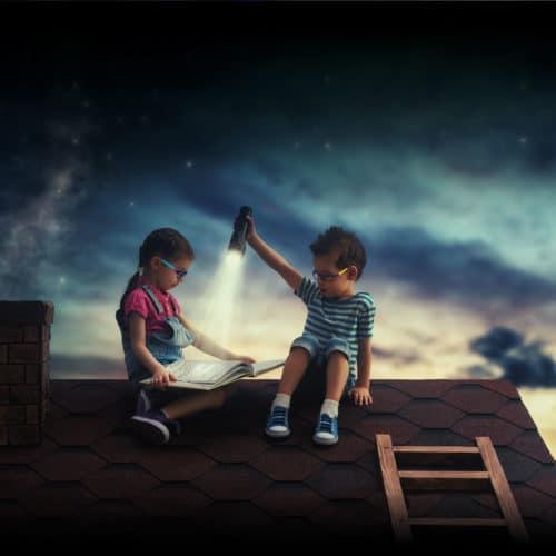 niños-tejado